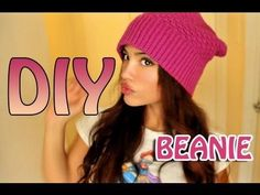 QUICK DIY BEANIE! - YouTube