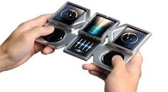 Future technology Concept the real DJ smartphone