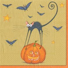 Paper Napkins Halloween Party Ideas Halloween Decorations Pumpkin Bat Cat Luncheon Size Pk 40 >>> You can get additional details at the image link. (This is an affiliate link)