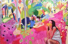 "Kimia Kline ""I come Bearing Mangoes"" https://www.kimiakline.com/paintings"