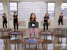Mini Trampoline Workout, Rebounder Trampoline, Backyard Trampoline, Rebounder Workout, Trampolines, Fitness Workouts, Easy Workouts, Fitness Goals, Morning Workout Routine