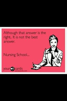 I do not miss nursing school! :)