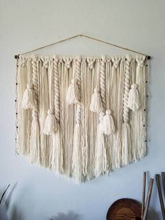 36 Tassel wall hanging/Large macramé wall hanging/Woven