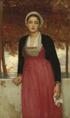 """Pintura de Lord Frederic Leighton - """"Amarilla"""""""
