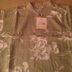 Mens XL Tommy Bahama Silk Polo Shirt Mens XL Tommy Bahama Polo Shirt. Short Sleeve, 3 Button Collar, Left Breast Pocket, 100% Silk. New with tags original $96, paid $68 Tommy Bahama Tops Tees - Short Sleeve