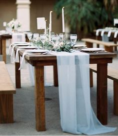 Romantic Flowy Chiffon Table Runner  We do CUSTOM Sizes! Rustic Decor, Vintage Decor, Romantic Wedding Decor Table Runner
