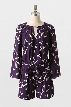 Scattered Wing Romper #anthropologie