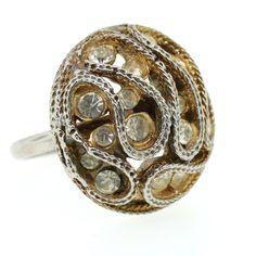 Rhinestone Ring by Lanie Lynn Vintage Jewelry | Fab.com