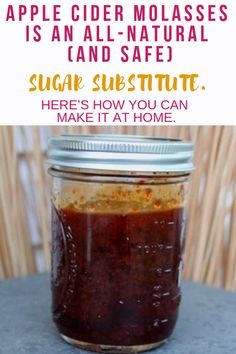 Want to make recipes without sugar? Here's how to make healthy recipes without sugar using apple cider molasses! You can easily use it in dessert recipes without sugar! Chicken Story, Canning Apples, Recipe Using Chicken, Chicken Treats, Chicken Humor, Sugar Substitute, Homemade Seasonings, Liqueurs, Raising Chickens