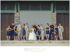 #Sunflowers #bouquet #Marine #Wedding | Perfect Princess Events | @Eric Lee Foley Photography