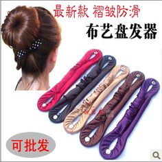 hot 2014 cloth button pointed toe ruffle fabric involucres meatball head hair stick hair maker 5091