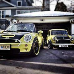 New Mini & classic Mini. Yellow Mini Cooper, Mini Cooper S, Mini Paceman, Mini Clubman, Mini Lifestyle, Car Design Sketch, Cute Cars, My Dream Car, Dream Cars