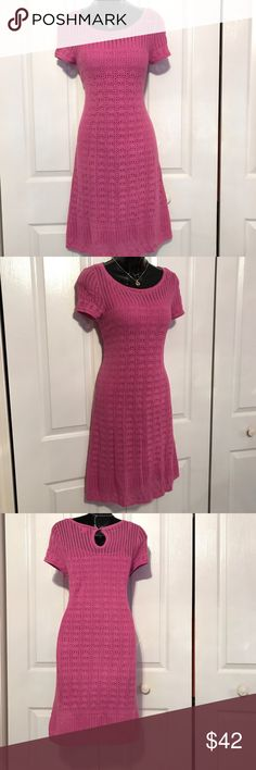 Lilly Pulitzer raspberry dress Lilly pulitzer Crocheted sweater dress. Light raspberry. . Comes with matching under slip Lilly Pulitzer Dresses
