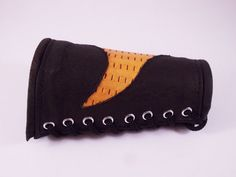 FREE SHIPPING Handmade woman bracer  from dark brown by LEATHERELY