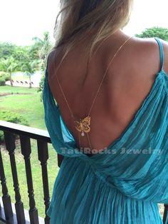TatiRocks Jewelry Moonstone Body Chain. #BodyChain #MoonstonrNecklace