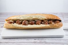 These beef and turkey meatballs made the perfect meatball sub sandwich. Make extra and freeze for your next spaghetti dinner.