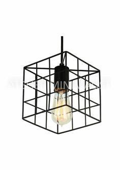 Livraison gratuite rétro Loft vintage style métal peinture cage pendentif lampe d'é Pendant Lamp, Pendant Lighting, Cage, Vintage Fashion, Vintage Style, Lamp Light, Ceiling Lights, Rustic, Retro