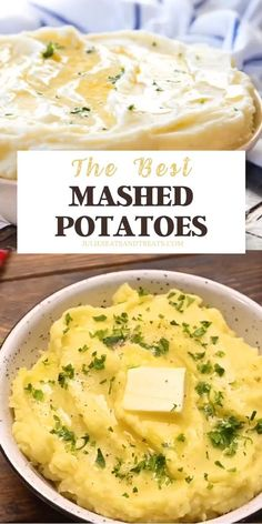 Want to know how to make light, fluffy, buttery mashed potatoes? Tips on how to get perfect mashed potatoes just like Grandma made! Easy Potato Recipes, Mashed Potato Recipes, Cheesy Recipes, Side Recipes, Easy Healthy Recipes, Easy Dinner Recipes, Mexican Food Recipes, Recipes For Potatoes, Chicken Recipes
