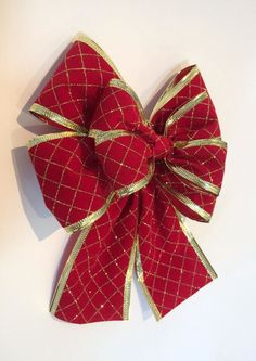 Wreaths, Crafty, Ideas, Education, Christmas Time, Christmas Things, Christmas Ribbon, Satin Bows, Fabric Bows