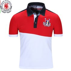 Fredd Marshall New Men Polo Shirt Male Solid Polo homme Casual Short Sleeve Tops for Man Patchwork Cotton Plus Size 022 Polo Shirt Outfits, T Shirt Polo, Mens Polo T Shirts, Tee Shirt Homme, Men's Polo, Polos Tommy Hilfiger, Polos Lacoste, Swagg, Colorful Shirts