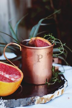 Cold Weather Cocktail: Winter-Ready Thyme & Citrus Moscow Mule