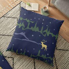Floor Pillows, Throw Pillows, Pillow Design, Top Artists, Northern Lights, Flooring, Art Prints, Printed, Awesome