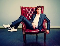 Try neutral colors for your walls and your Benedict Cumberbatch, to make a bolder statement with the furniture.