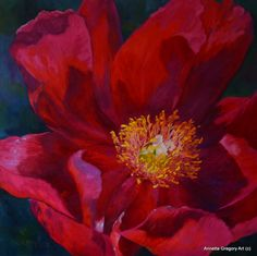The Extrovert Oil She loves the soft breezes and gentle rains of spring, She holds her head high in gratitude and rewards the earth with her sweet beauty. Brick Art, Art Walk, Big Flowers, Peonies, Love Her, Earth, Fine Art, Floral Paintings, Plants