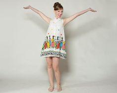 Vintage 1960s Ruth Clarage Dress  Novelty Print by AlexSandras