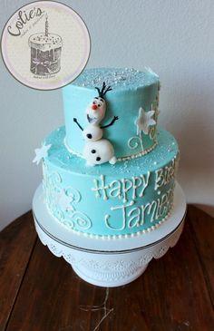 Frozen Theme. Olaf. Cake. Frozen Birthday Cake: