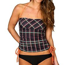 75cd2b1b31 Ready for the surf and sun // Hurley Womens One and Only Plaid Bandini Swim  Top. Scheels
