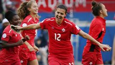 Canada's Christine Sinclair has become the all-time leading goal scorer in international soccer.