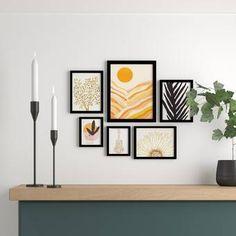 AllModern Tristin Modern & Contemporary Wall Mirror & Reviews   Wayfair Artwork Prints, Framed Art Prints, Fine Art Prints, Contemporary Wall Mirrors, Modern Contemporary, Modern Wall, Mid Century Modern Decor, Wall Art Sets, Lovers Art