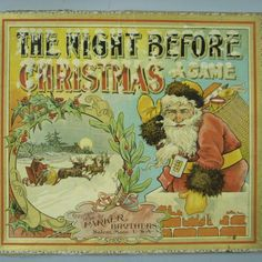 Night Before Christmas board game. Parker Brothers, 1896. The Strong National Museum of Play, Online Collections, Object ID 107.3810.