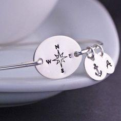 Silver Compass Bracelet  LOVE!
