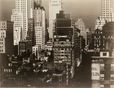 "ALFRED STIEGLITZ (1864-1946)  New York, 1931. Silver print, the image measuring 7 1/4x9 1/4 inches (18.4x23.5 cm.), the mount 10 3/4x13 1/2 inches (27.3x34.3 cm.), with Stieglitz's signature, title, date, and notations, ""With permission 'An American Place,' Kindly return to,"" in pencil, an Alfred Stieglitz, 509 Madison Avenue, New York, NY hand stamp, and additional numeric notations, also in pencil, in an unknown hand, on mount recto, and a Popular Photography and date hand stamps"