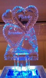 artistic ice sculpture for wedding