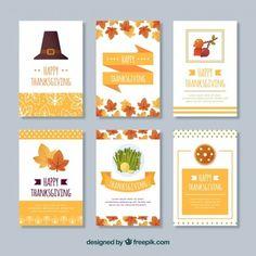 Set of vintage thanksgiving cards