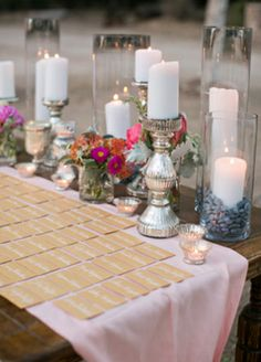 Escort card table // Mel Barlow & Co