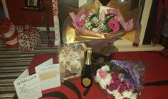 My leaving flowers and gifts. Thank you to 4 and a half years