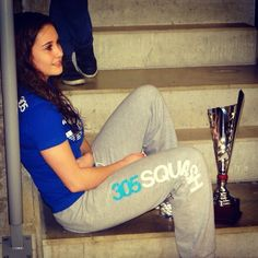 Nele Gilis,17 Just chilling in her 305SQUASH clothing ask her 2nd Belgian Senior Champs trophy #team305