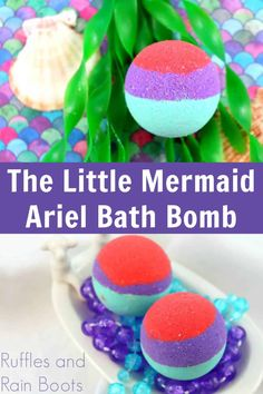 This is the BEST favor for The Little Mermaid Party for my daughter! I love how bright these Ariel bath bombs are--so pretty! Click through to see the easy recipe for Disney Princess bath bombs. Homemade Skin Care, Homemade Beauty Products, Homemade Gifts, Bath Bomb Recipes, Soap Recipes, Little Mermaid Parties, The Little Mermaid, Mermaid Party Favors, Bath Bomb Molds