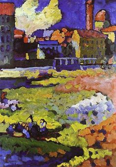 "Wassily Kandinsky: ""Munich-Schwabing with the Church of St. Ursula"", 1908."