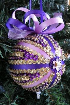 Sequin Christmas Ornament by LissabearsCrafts on Etsy