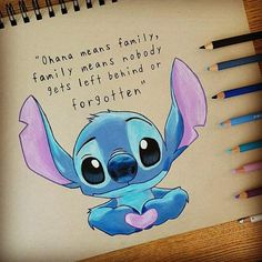Ohana 💙 _________________________________ Ohana 💙 _________________________________ More from my site stitch drawing disney lilo stitch Dumbo Disney sketch Lilo Ve Stitch, Lilo And Stitch Quotes, Lelo And Stitch, Lilo And Stitch Drawings, Lilo And Stitch Ohana, Disney Kunst, Arte Disney, Disney Fan Art, Disney Disney