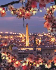 Bologna Italy... such a beautiful nighttime photo! #iliveitaly