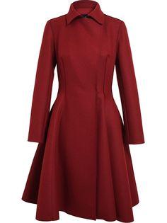 LANVIN - Flounced Wool Coat