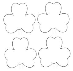 st patricks day crafts print your large shamrock template at