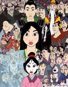 Mulan collage.