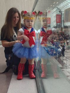 "jmoosalecki: "" Baby sailor moon "" A photo of my daughter at NY Comic Con 2012"